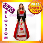 B62 Deluxe Queen Of Hearts Alice in Wonderland Fancy Dress Halloween Costume