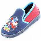 Boys Size 10 - 5 Navy Blue SONIC THE HEDGEHOG Slippers NEW Vortex Red Trim