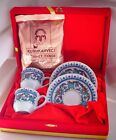 Turkish Coffee Cups Saucers with gold gilding in a Velvet Gift Box, Coffee Gift