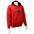 OFFICIAL LIVERPOOL FC MENS RED CREST FLEECE HOODY JUMPER TOP WARM NEW GIFT XMAS