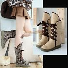 Hot Sale Women's Girls Fashion faux suede Winter Warm Snow Boots Comfy Shoes