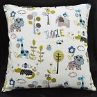 LL310a White Lt. Blue Oliver Pure Cotton Canvas Fabric Cushion Cover/Pillow Case