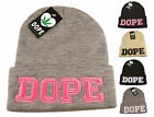DOPE Beanie Hat With Knitted Logo, Designer Black Logo Hats, Limited Edition