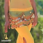 new belly dance hip scarf belt gold coins wrap rainbow styles