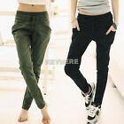 New Style Japan Korea Women Slim Skinny Trousers Pencil Pants Slack Sweatpants