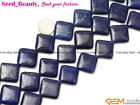 "Jewelry Making square gemstone lapis lazuli beads strand 15"" seed-beauty"