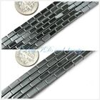 jewelry making rectangle black jet smooth hematite beads strand 15""