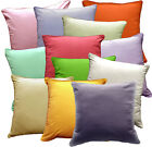 Rc - Pure Cotton Plain Color Soft Fabric Cushion Cover/Pillow Case Custom Size