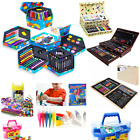 Childrens Craft Art Artist Set Crayons Pens Paints Pencils Apron Smock No Mess