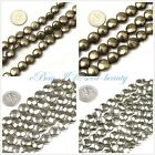 """Jewelry making  8/10/12mm natural coin faceted smooth pyrite loose beads 15"""""""