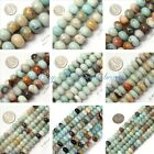 Rondelle Mixed-color Amazonite Jewelry Making Gemstone Beads Strand 15""
