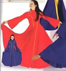 NWT  Praisewear Red dress liturgical w/ gold piping ch/ladies bell sleeve praise