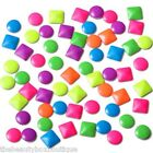 NEON STUDS - NAIL ART 3D + METALLIC COLOURS GEMS RHINESTONES CRAFT ACCESSORIES