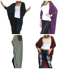New Womens Ladies Cardigan Shrug Bolero Top Long Sleeve Jacket Size 10 12 14 16