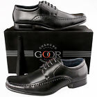 Boys Kids New Smart Black Leather Lined Gibson Wedding Formal School Shoes