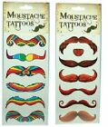 Temporary Tattoo Pack of 6 Styles Novelty Festival Christmas Party MOVEMBER Gift