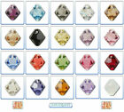 6pcs Swarovski Crystal Pendant 6301 & 6328 Top-drilled Bicone 8mm *Many Colours*