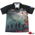 British Army 'For The Fallen' 2012 Remembrance Poppy Rugby Shirt S-5XL