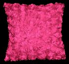 Sa210a Hot Pink 3D Flower Taffeta Satin Cushion Cover/Pillow Case*Custom Size