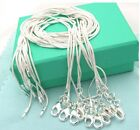 FREE P&P Wholesale! Xmas Gift 10pcs 1mm 925Sterling Silver Snake Chains Necklace
