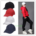 Unisex Men Women Plain Baseball Sport Cap Blank Curve Visor Hat Solid Color Cool