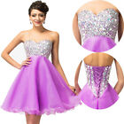 GK Short Strapless Beaded Homecoming Grad Dresses Pageant Wedding Prom Ball Gown