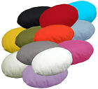 aa Flat Round Shape Pure Cotton Canvas Cushion Cover/Pillow Case*Custom Size