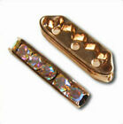 4pcs Brass Rhinestone 3-strand Spacer Bar 22x7mm *Many Colours*