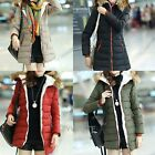 Womens Vogue Fur Collar Hooded Thicken Long-medium Outerwear Down Jacket Coat