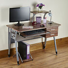Computer Desk PC Table Folding Home Office Furniture L Shape Black Fold Away