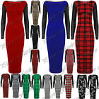 Womens Long Sleeves Stretch Ladies PVC Leather Look Bodycon Long Top Midi Dress
