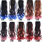 10Color Long Wavy Party Cosplay Colorful Ponytails Clip-in Hair Extensions KAP23