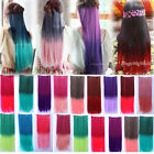 25*60cm Colorful Cosplay Long Straight Hairpiece 5Clip-in Hair Extensions KAP27