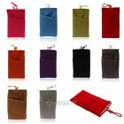 Two  Pocket Carry Soft Bag Sleeve Cloth Case For Samsung S4 S3 iPhone 5 5C 5S