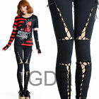 Cross Bundle ! TREND SLIM BONDAGE PUNK LEGGINGS J1021B
