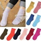 Women's Neon Bright Solid Colour Low Cut Ankle Socks Winter Warm Candy Color