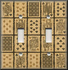 Light Switch Plate Cover - Vintage Playing Cards - Game Room Home Decor