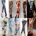 Womens Fashion Punk Funky Leggings Stretchy Pencil Skinny Sexy Pants HOT