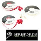 Berisfords Ribbons Satin Desire, Love Hearts, Wedding Or Valentine 7mm 2 Metres