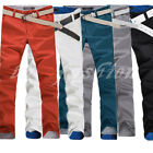 Mens Slim Fit Casual Straight Leg Skinny Stretch Pencil Pants Jeans Trousers HOT
