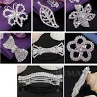 Wedding Bride Silver Plated Rhinestone Crystal Hair Clip New Hot