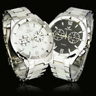 New 2 Colors Men's Elegant Stainless Steel Quartz Analog Wrist Watch, NW24