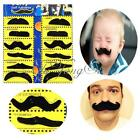 12pcs Set Fake Moustaches Mustache Self Adhesive Fancy Joke Dress Costumes Party