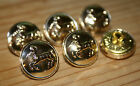6x Veterinary Corp Military Army Gold Buttons 20mm or 25mm