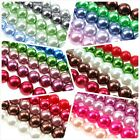 Glass Pearl Beads Mixes, Bright & Colourful Or Pastel Colours, 12-14-16mm