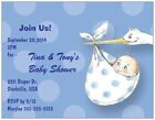 UR WORDS Boy GIRL STORK  BABY Custom SHOWER Invitations THANK YOU Personalized