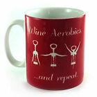 NEW WINE AEROBICS AND REPEAT GIFT MUG CUP PRESENT DRINK DRINKER LOVER NOVELTY