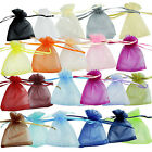 12/25/50/100pcs Organza Jewelry Wedding Holiday Gift Pouch Bags 6.85*8.89cm Q