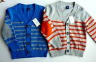 Baby GAP Boys BLUE ORANGE Striped Knitted Button Cardigan Top 6-24m £17.95