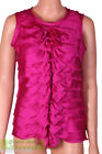 Untold House of Fraser RRP £60 Pink Sleeveless Bow Front Blouse Top Free UK Ship